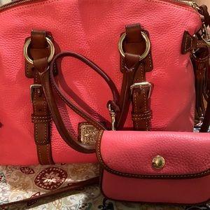Dooney & Bourke  Pink and Brown Florentine